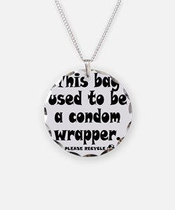 Condom Wrapper Recycled Bag Necklace