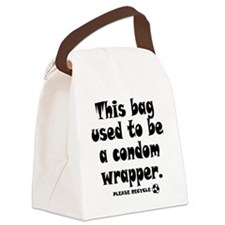 Condom Wrapper Recycled Bag Canvas Lunch Bag