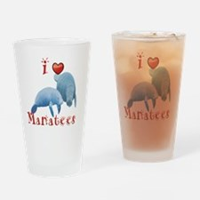 I-love-manatees Drinking Glass