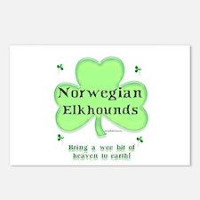 Elkhound Heaven Postcards (Package of 8)