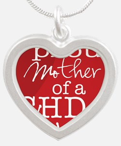 proud mother copy Silver Heart Necklace