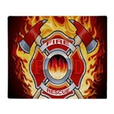 Fire rescue Fleece Blankets