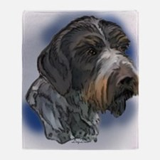 german_wirehaired_pointer1 Throw Blanket