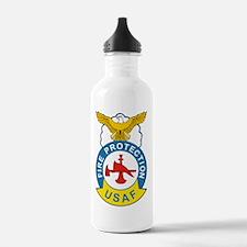 us_fire_fighter Water Bottle