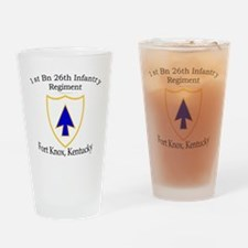 1st Bn 26th Infantry Drinking Glass