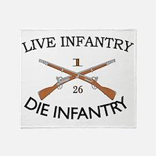 1st Bn 26th Infantry cap4 Throw Blanket