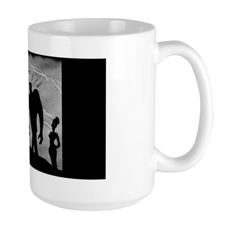 monster_mashup_clock Large Mug