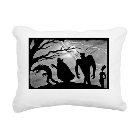 monster_mashup_whiteshir Rectangular Canvas Pillow