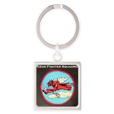 302nd Fighter Squadron Square Keychain