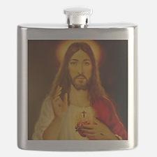 JESUS CHRIST  LorAnge Art 2011 2x2 Flask