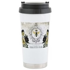 MODERN VINTAGE french pansies a Travel Mug