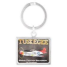 Tuskegee P-51 Lucifer Landscape Keychain