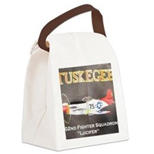 Tuskegee P-51 Lucifer Canvas Lunch Bag