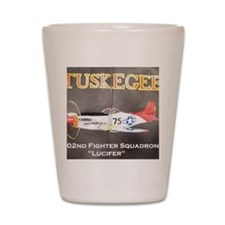 Tuskegee P-51 Lucifer Shot Glass