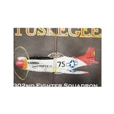 Tuskegee P-51 Lucifer Rectangle Magnet