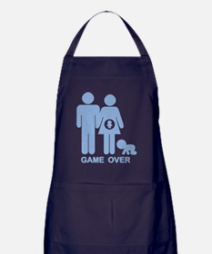 game-over-preg2-blu-T Apron (dark)