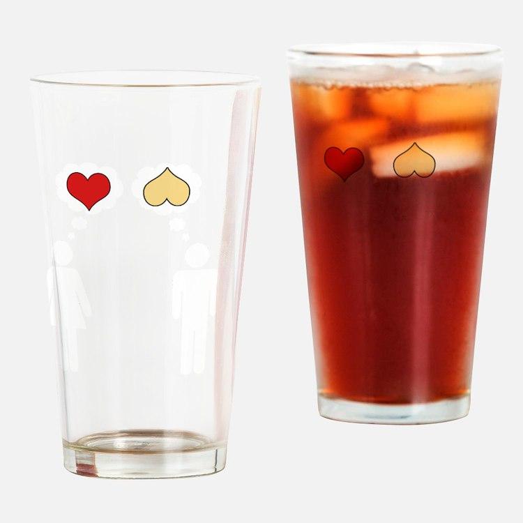 valentine Drinking Glass