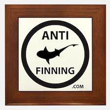 Shark Art (Tighter logo) - Anti-Shark  Framed Tile