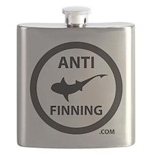 Shark Art (Tighter logo) - Anti-Shark Finnin Flask