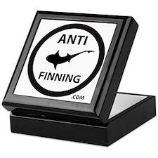 Shark Art (Tighter logo) - Anti-Shark Keepsake Box