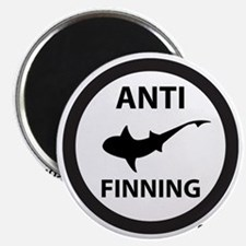 Shark Art (Tighter logo) - Anti-Shark Finni Magnet