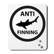 Bull Shark with Bubbles - Anti-Shark Fin Mousepad