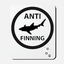 Bull Shark with Bubbles - Anti-Shark Fin Mousepad