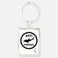 Bull Shark with Bubbles - Anti-S Portrait Keychain