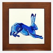 Blue Hare Framed Tile