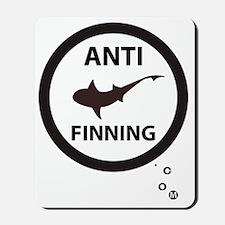 Shark Art with Bubbles - Anti-Shark Finn Mousepad