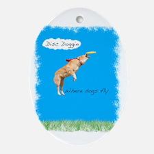 disc doggin Oval Ornament