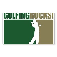 Golfing Rocks Rectangle Decal