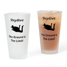 Skydive Ground Limit Black Drinking Glass