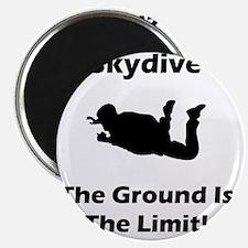 Skydive Ground Limit Black Magnet