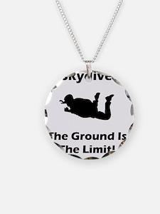 Skydive Ground Limit Black Necklace