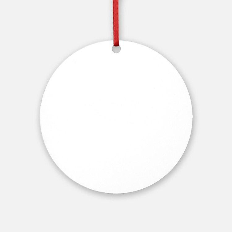 Skydive Ground Limit White Round Ornament