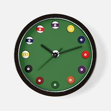 """""""Billiard Balls"""" Wall Clock"""