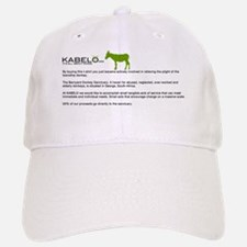 DONKEY_TEXT_blackgreen Baseball Baseball Cap