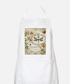 Modern Vintage French dragonfly Apron