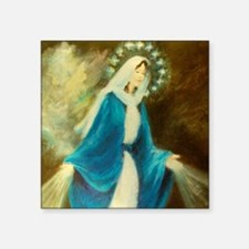 """Our lady of Grace Lorange A Square Sticker 3"""" x 3"""""""