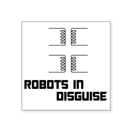 "transformers BLK Square Sticker 3"" x 3"""
