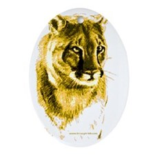 cougar 10tall-400 BlueBorder Paintin Oval Ornament