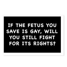 fetus rightssticker Postcards (Package of 8)