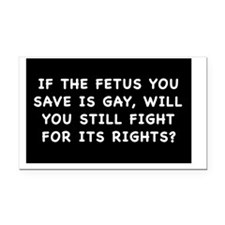 fetus rightssticker Rectangle Car Magnet