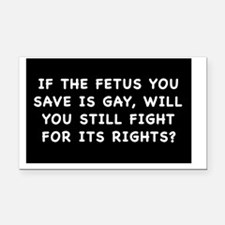 fetus rightssticker Rectangle Car Magnet