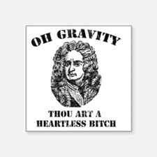 "isaac_newton Square Sticker 3"" x 3"""