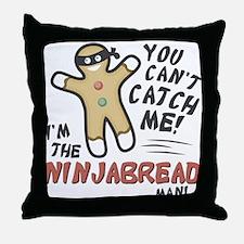 Ninjabread Man Throw Pillow