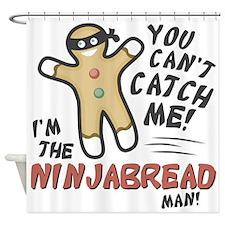 Ninjabread Man Shower Curtain
