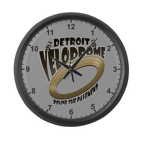Detroit Velodrome Racing Clock Large Wall Clock