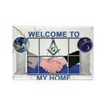 Welcome to a Masons home Rectangle Magnet (10 pac